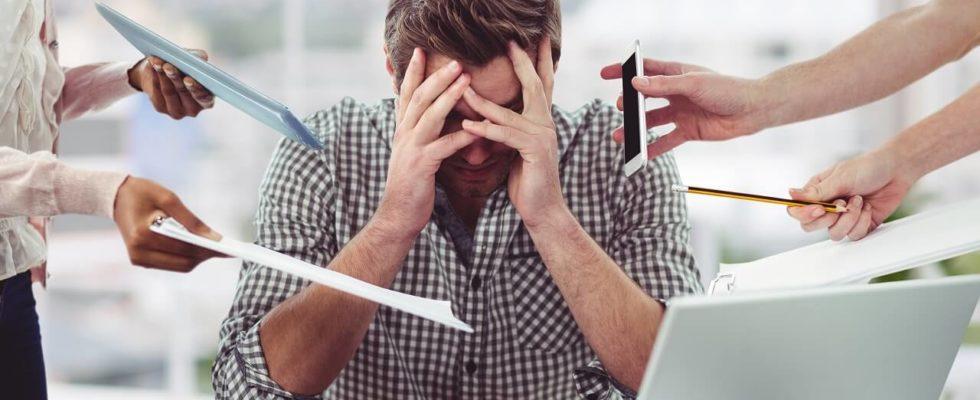 Člověk ve stresu