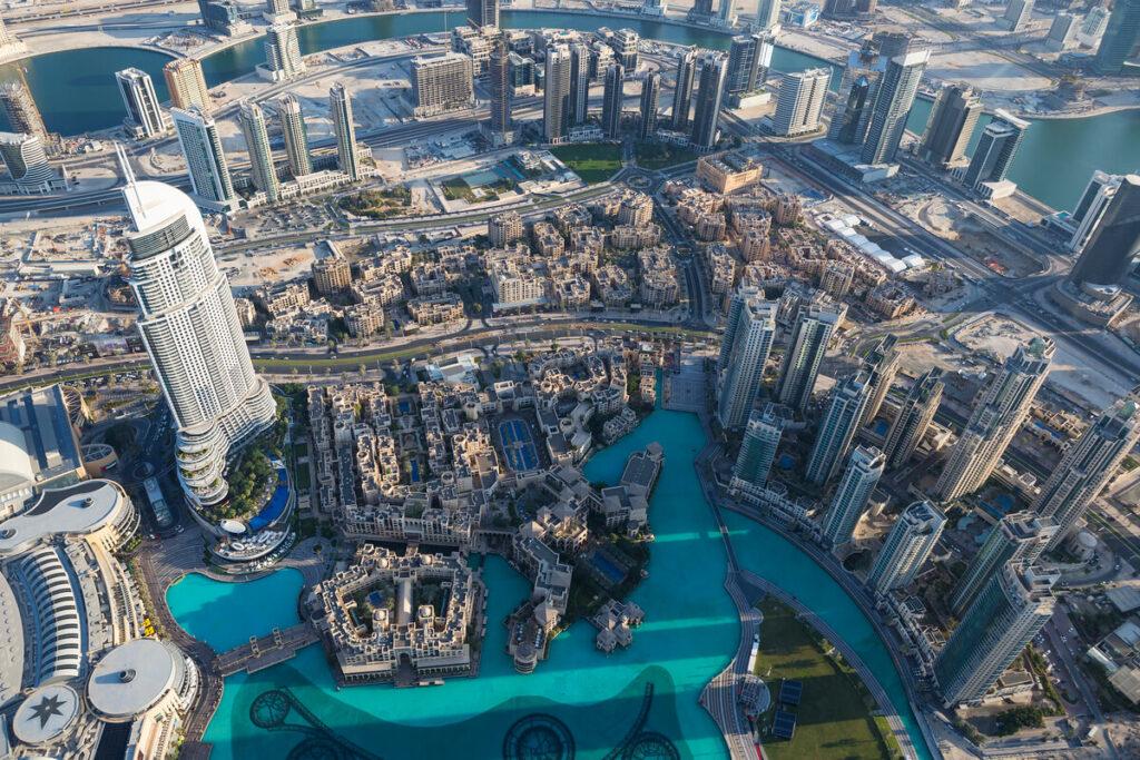 Dubaj z mrakodrapu