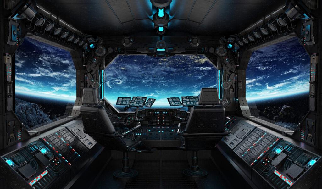Pohled na zemi z vesmírné lodi